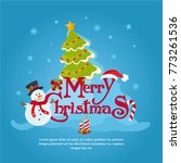 merry christmas greeting card.... | Shutterstock .eps vector #773261536