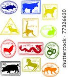retro set of fun chinese zodiac ... | Shutterstock .eps vector #77326630
