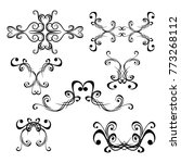 decorative monograms and... | Shutterstock .eps vector #773268112