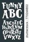 vector cartoon serif font with... | Shutterstock .eps vector #773268802