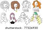young fashion women .vector... | Shutterstock .eps vector #77326930