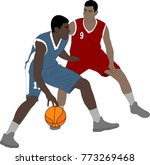 basketball players illustration ... | Shutterstock .eps vector #773269468