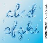 3d font. letters a  b  c  d  e  ... | Shutterstock .eps vector #773272666