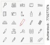 outline web icon set   office... | Shutterstock .eps vector #773277376