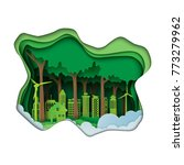 green eco city and renewable... | Shutterstock .eps vector #773279962