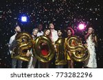 new 2018 year is coming  group... | Shutterstock . vector #773282296