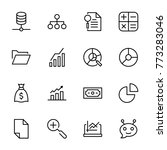 analytics icon set. collection...   Shutterstock .eps vector #773283046