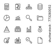 analytics icon set. collection...   Shutterstock .eps vector #773283052
