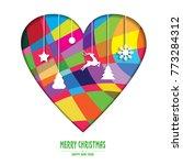 merry christmas _ heart... | Shutterstock .eps vector #773284312