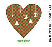 merry christmas _ heart... | Shutterstock .eps vector #773284315