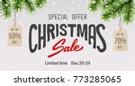 christmas sale vector... | Shutterstock .eps vector #773285065