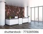 side view of modern reception...   Shutterstock . vector #773285086
