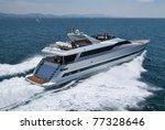 italy  tyrrhenian sea  off the... | Shutterstock . vector #77328646