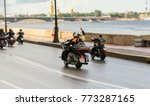 motorcyclists are riding along... | Shutterstock . vector #773287165