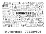 big set of business icons.... | Shutterstock .eps vector #773289505