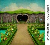 conceptual fantasy green... | Shutterstock . vector #773290096