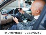 close up of an elderly man in a ... | Shutterstock . vector #773290252