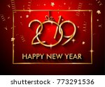 2018 happy new year background... | Shutterstock .eps vector #773291536
