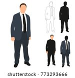 silhouette business man  flat... | Shutterstock .eps vector #773293666