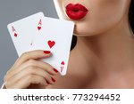 poker or other card games.... | Shutterstock . vector #773294452
