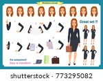 set of businesswoman character... | Shutterstock .eps vector #773295082
