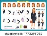 set of businesswoman character... | Shutterstock .eps vector #773295082
