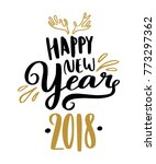 happy new year hand written... | Shutterstock .eps vector #773297362