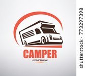 camper van logo template ... | Shutterstock .eps vector #773297398