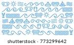 vector greek line art icons...   Shutterstock .eps vector #773299642