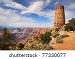 Grand Canyon Watchtower At The...