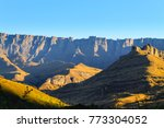 Small photo of South African landmark, Amphitheatre from Royal Natal National Park. Drakensberg mountains landscape. Top peaks