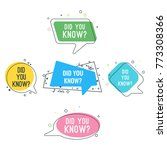 did you know question on... | Shutterstock .eps vector #773308366