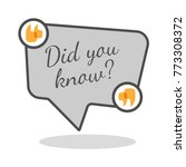 did you know question inside... | Shutterstock .eps vector #773308372