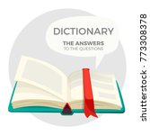 open dictionary book with all... | Shutterstock .eps vector #773308378