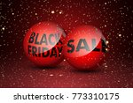 black friday sale text in red... | Shutterstock .eps vector #773310175