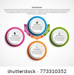 infographic design organization ... | Shutterstock .eps vector #773310352