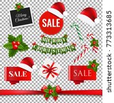 sale xmas big collection ... | Shutterstock .eps vector #773313685