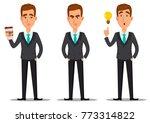 business man cartoon character. ... | Shutterstock .eps vector #773314822