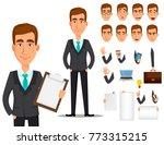 business man cartoon character... | Shutterstock .eps vector #773315215