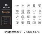 20 ultra high quality security... | Shutterstock .eps vector #773315578