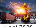 logistics and transportation of ... | Shutterstock . vector #773315848