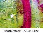 artistic graffiti abstract...   Shutterstock . vector #773318122