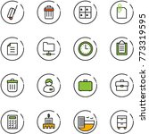 line vector icon set   suitcase ... | Shutterstock .eps vector #773319595
