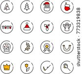 line vector icon set  ... | Shutterstock .eps vector #773319838