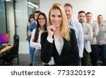 business woman in officess... | Shutterstock . vector #773320192