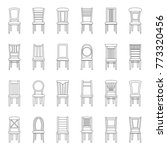 set of icons of chairs  vector... | Shutterstock .eps vector #773320456