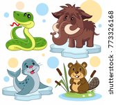 a set of cartoon illustrations... | Shutterstock .eps vector #773326168