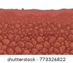 underground stony soil layers.... | Shutterstock .eps vector #773326822