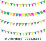 bunting flags  celebration ... | Shutterstock .eps vector #773326858