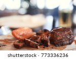 serving dinner with a grill | Shutterstock . vector #773336236